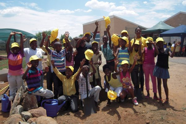 planting at Maropeng Primary